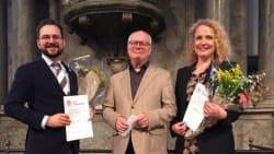 Phillip Faber og Anne Karine Prip hædret for DR's 'Morgensang'